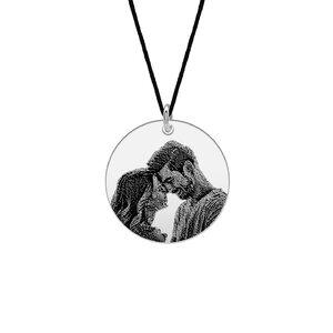 Pandantiv unisex banut 19 mm personalizat gravura foto Argint 925 Premium