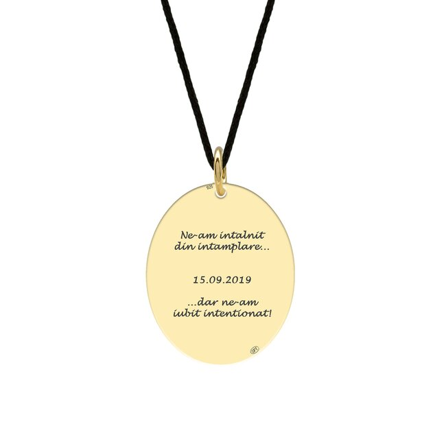 Pandantiv Aur 14K oval personalizat (21 mm)