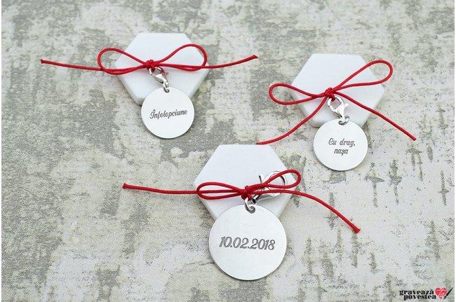 Set 3 banuti botez - prima baita - personalizati gravura text Argint 925 rodiat